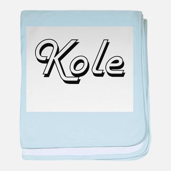 Kole Classic Style Name baby blanket