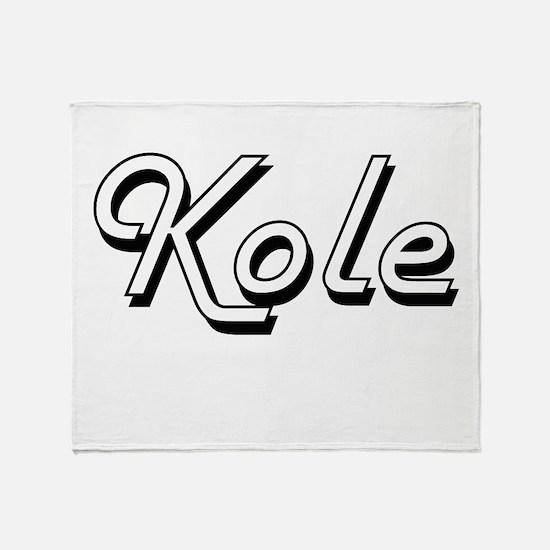 Kole Classic Style Name Throw Blanket