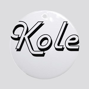 Kole Classic Style Name Ornament (Round)