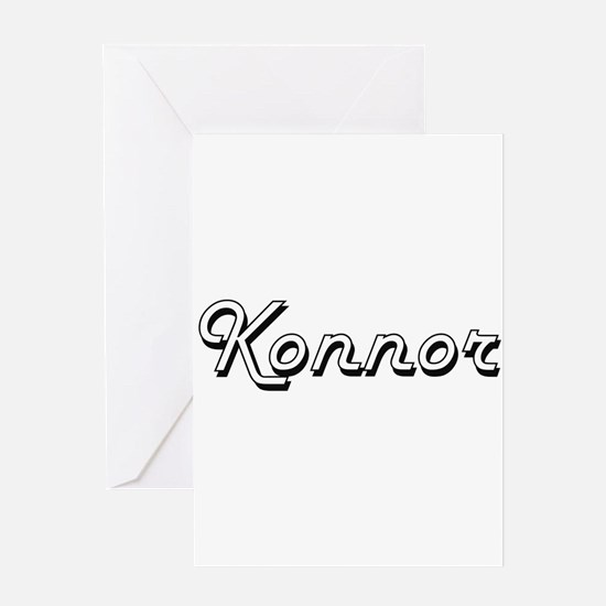Konnor Classic Style Name Greeting Cards