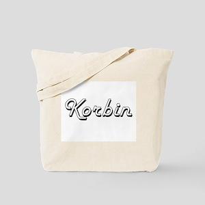 Korbin Classic Style Name Tote Bag