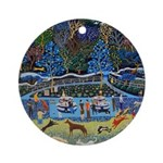 Dog Park Ornament (Round)