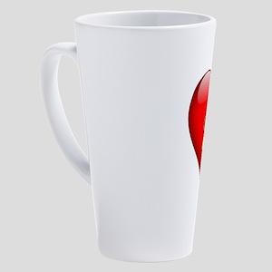 Cindy's Heart and Cross 17 oz Latte Mug