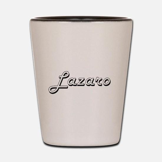 Lazaro Classic Style Name Shot Glass