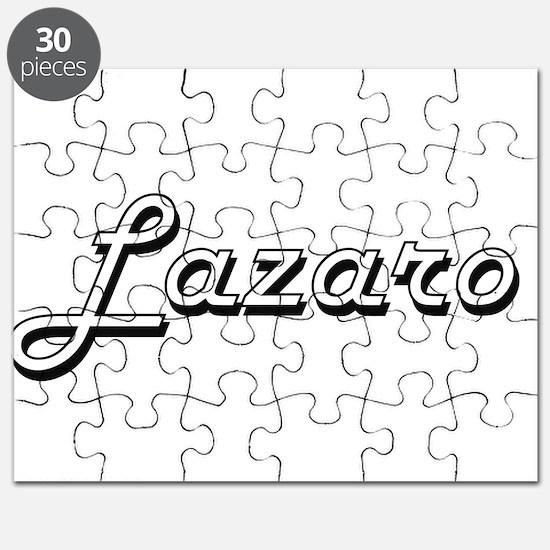 Lazaro Classic Style Name Puzzle