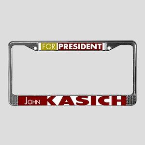 John Kasich for President V1 License Plate Frame
