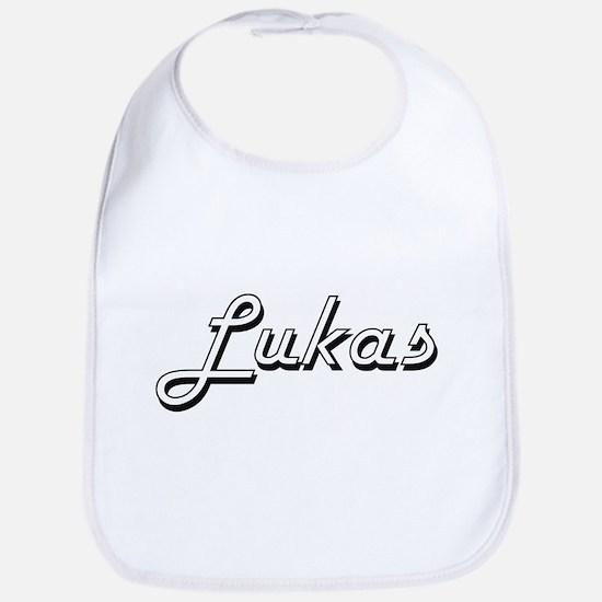 Lukas Classic Style Name Bib
