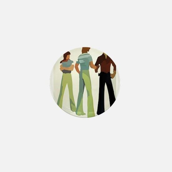 1970s vintage men Mini Button