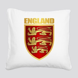 English Royal Arms Square Canvas Pillow