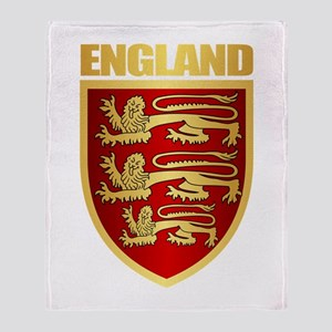 English Royal Arms Throw Blanket