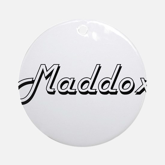 Maddox Classic Style Name Ornament (Round)