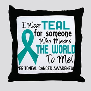 Peritoneal Cancer MeansWorldToMe2 Throw Pillow
