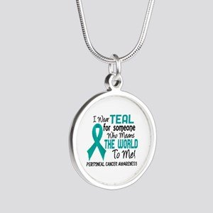 Peritoneal Cancer MeansWorld Silver Round Necklace