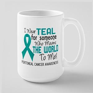 Peritoneal Cancer MeansWorldToMe2 Large Mug