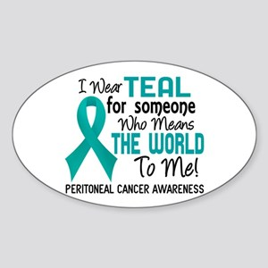 Peritoneal Cancer MeansWorldToMe2 Sticker (Oval)