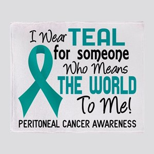 Peritoneal Cancer MeansWorldToMe2 Throw Blanket