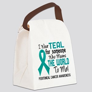Peritoneal Cancer MeansWorldToMe2 Canvas Lunch Bag
