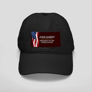 John Kasich for President V3 Black Cap