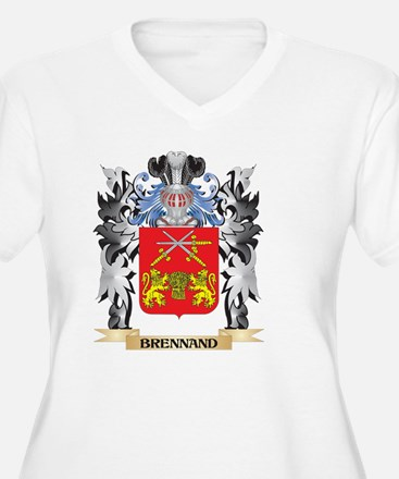 Brennand Coat of Arms - Family C Plus Size T-Shirt