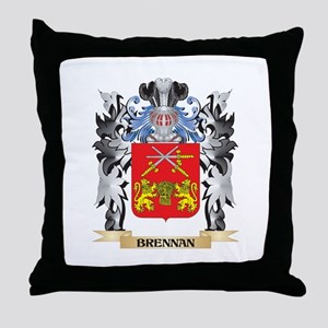 Brennan Coat of Arms - Family Crest Throw Pillow