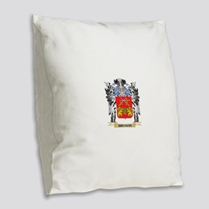 Brennan Coat of Arms - Family Burlap Throw Pillow