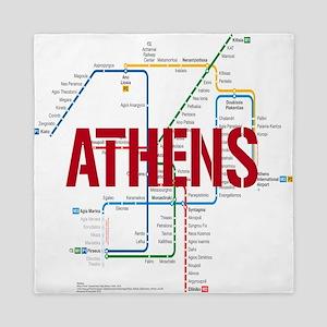 Athens Metro Queen Duvet