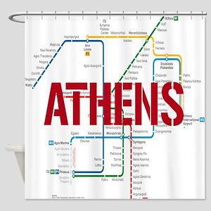 Athens Metro Shower Curtain