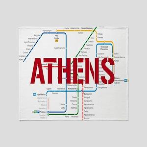 Athens Metro Throw Blanket