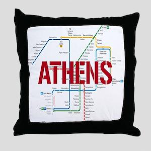 Athens Metro Throw Pillow