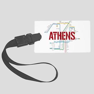 Athens Metro Large Luggage Tag