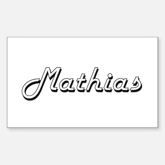 Mathias Classic Style Name Decal