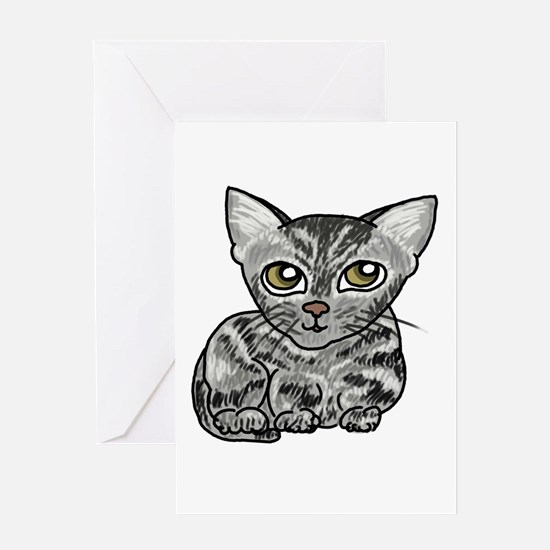 American Shorthair Cat Greeting Card