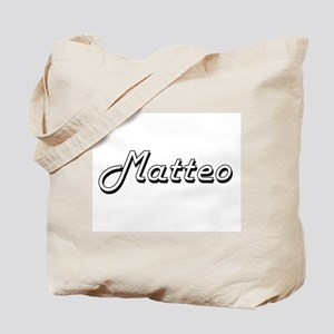 Matteo Classic Style Name Tote Bag
