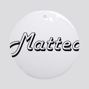 Matteo Classic Style Name Ornament (Round)