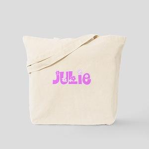 Julie Flower Design Tote Bag