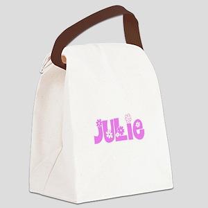 Julie Flower Design Canvas Lunch Bag