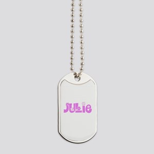Julie Flower Design Dog Tags