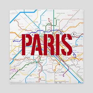 Paris Metro Queen Duvet
