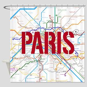 Paris Metro Shower Curtain
