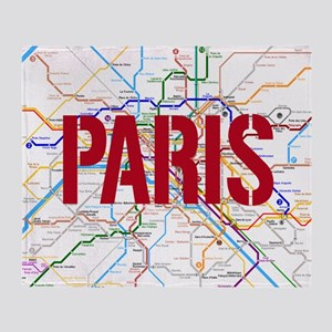 Paris Metro Throw Blanket