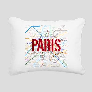 Paris Metro Rectangular Canvas Pillow