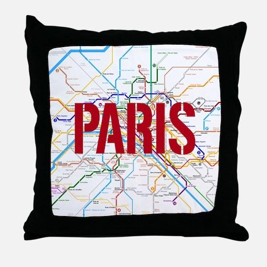 Paris Metro Throw Pillow