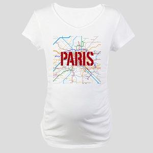 Paris Metro Maternity T-Shirt