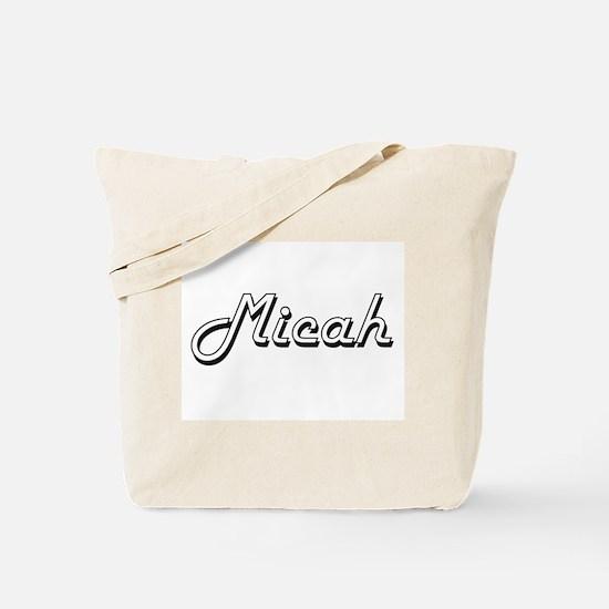 Micah Classic Style Name Tote Bag