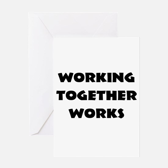 Teamwork inspiration Greeting Cards