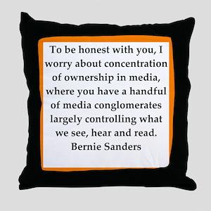 bernie sander quote Throw Pillow