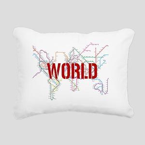 World Metro Map Rectangular Canvas Pillow