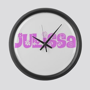 Julissa Flower Design Large Wall Clock