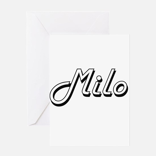 Milo Classic Style Name Greeting Cards