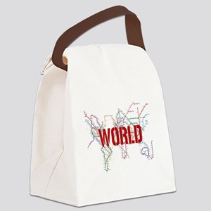 World Metro Map Canvas Lunch Bag